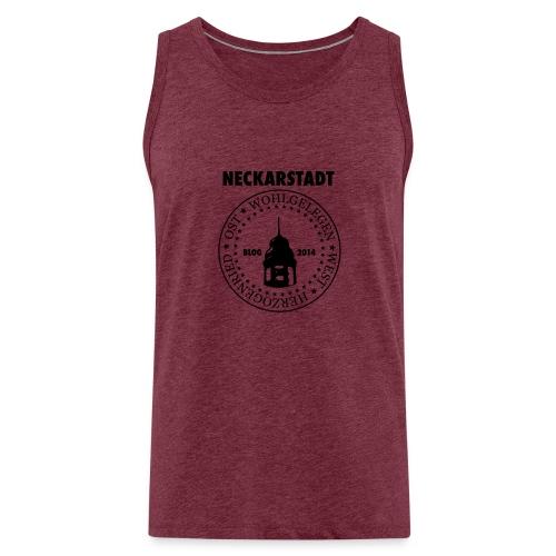 Neckarstadt Blog seit 2014 (Logo dunkel) - Männer Premium Tank Top