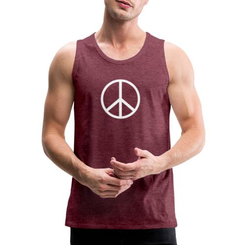 Símbolo de la paz blanco - Tank top premium hombre