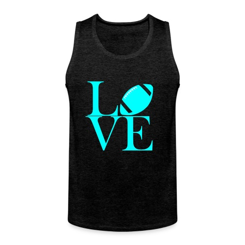 Love Symbol mit Football - Männer Premium Tank Top