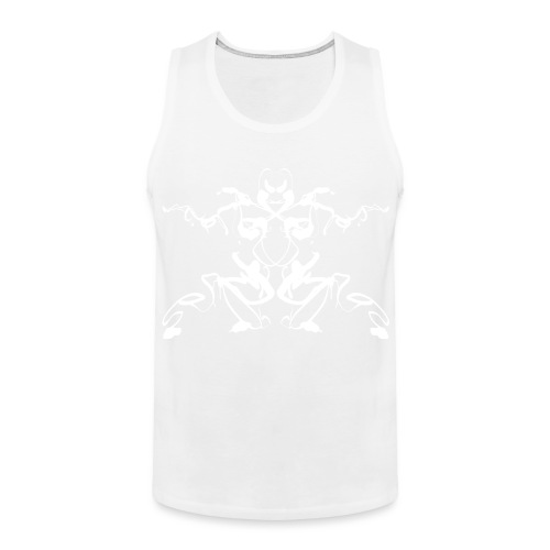 Rorschach test of a Shaolin figure Tigerstyle - Men's Premium Tank Top