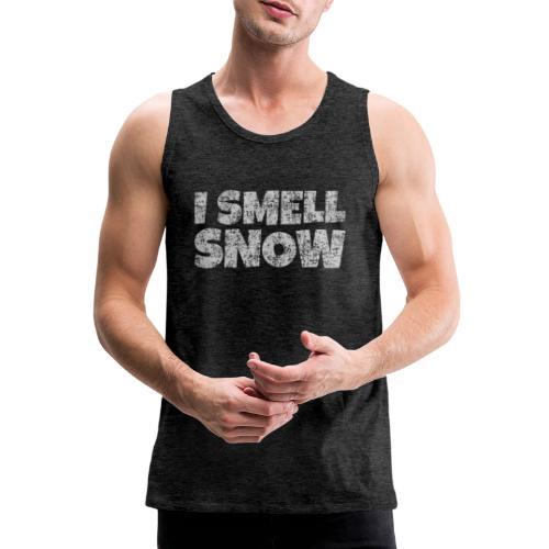 I Smell Snow (Grau) Schnee, Winter, Wintersport - Männer Premium Tank Top