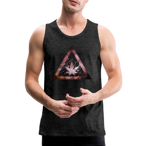 Galaxy Weed Marijuana Triangle Splashes - Männer Premium Tank Top