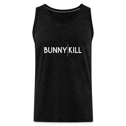 bunny kill logo 02 weiss frei png - Männer Premium Tank Top