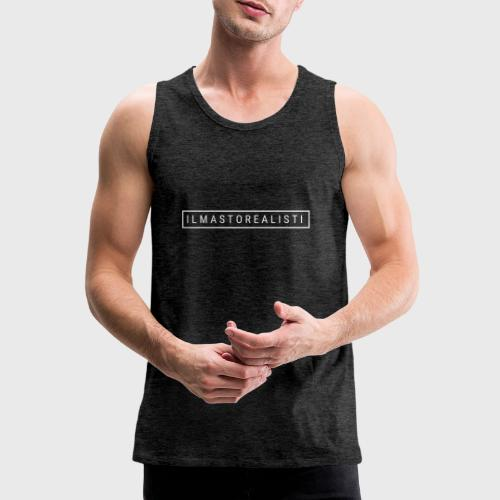 Ilmastorealisti - Miesten premium hihaton paita