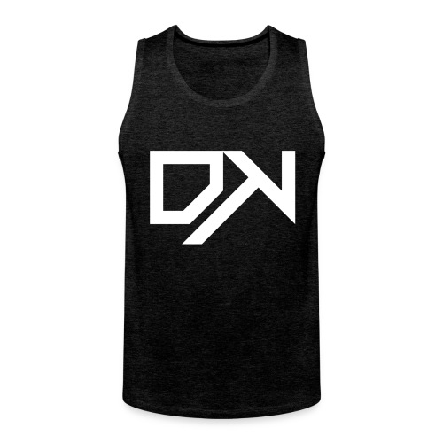 DewKee Logo Cap White - Men's Premium Tank Top