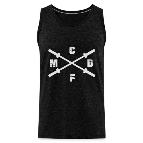 CFMD Crossed Barbells hell - Männer Premium Tank Top