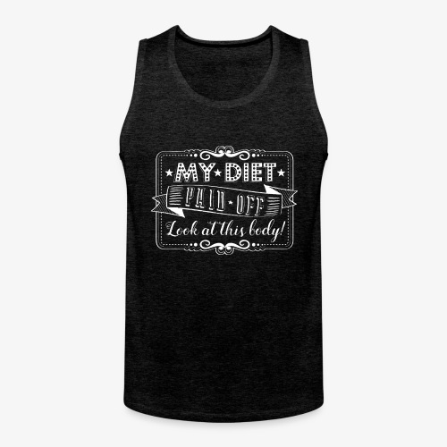 Handlettering My diet paid off (W) - Mannen Premium tank top
