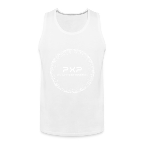 white logo transparent 2x - Men's Premium Tank Top