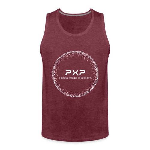white logo transparent 2x - Men's Premium Tank Top