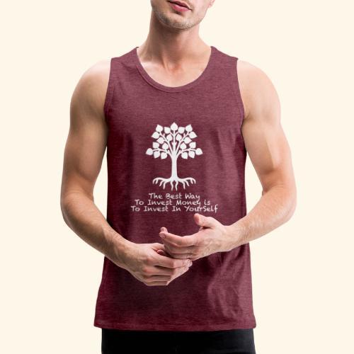 Printed T-Shirt Tree Best Way Invest Money - Canotta premium da uomo