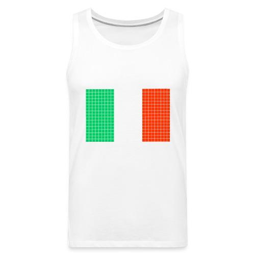 italian flag - Canotta premium da uomo