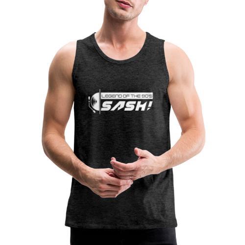 DJ SASH! Turntable Logo - Men's Premium Tank Top
