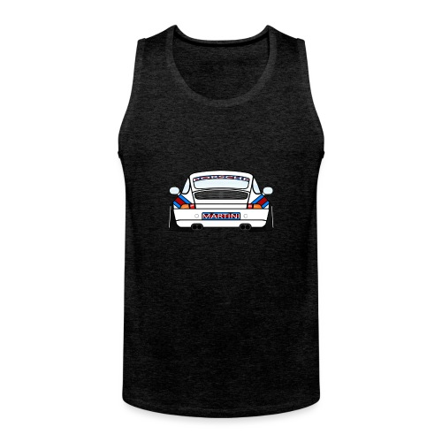 White Sports Car Maritini Livery - Men's Premium Tank Top