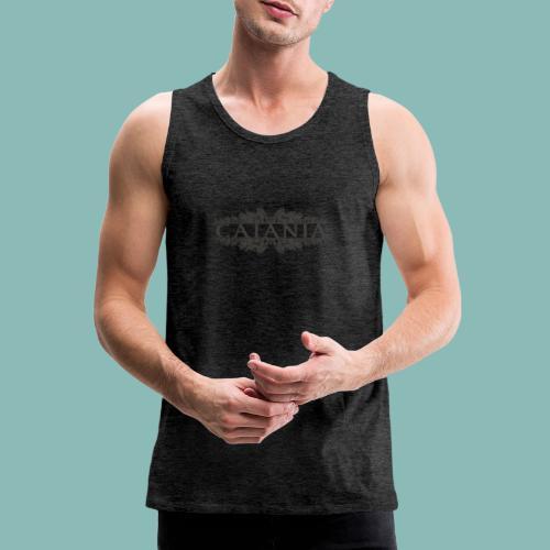 Caiania-logo harmaa - Miesten premium hihaton paita