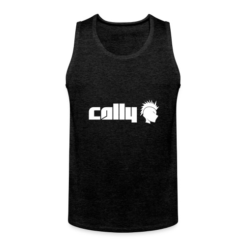 Cally White Logo - Men's Premium Tank Top