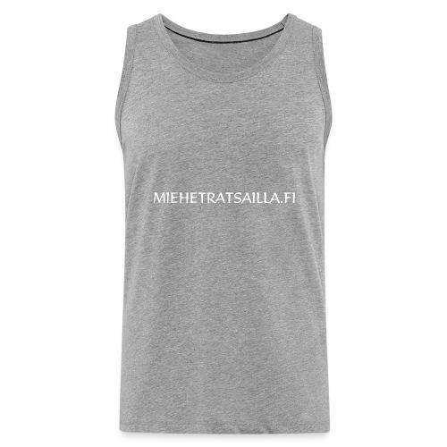 miehetratsailla w - Miesten premium hihaton paita