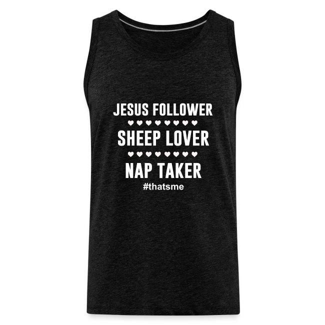 Jesus follower sheep lover nap taker
