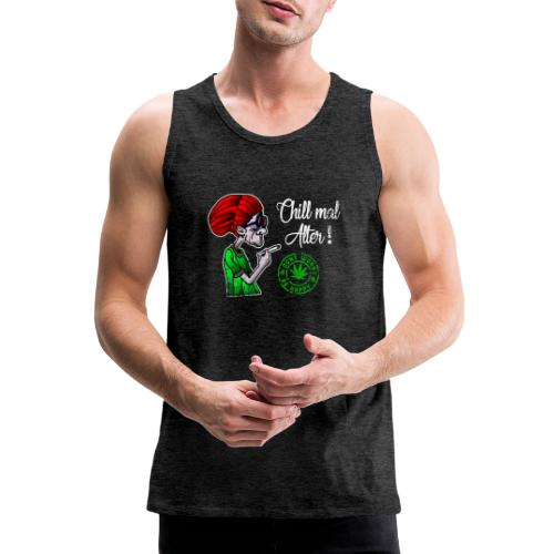 Chill old age, smoke weed everyday, vintage - Men's Premium Tank Top