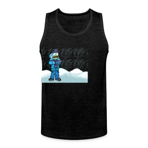 Freezing Turtle Snowboarder/Frierender Snowboarder - Männer Premium Tank Top