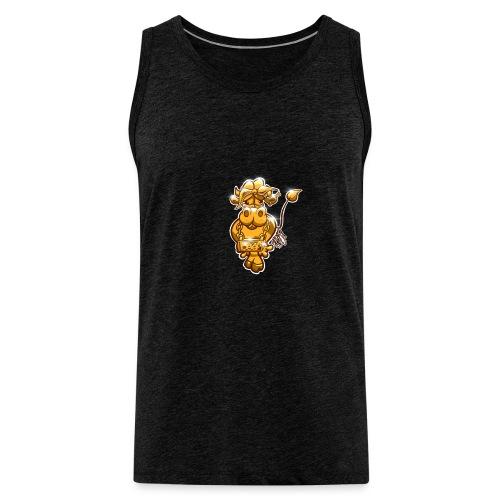 Goldene Gangster Kuh / Gold Thug Cow - Männer Premium Tank Top