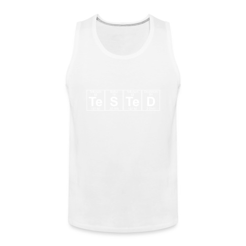 Te-S-Te-D (tested) (small) - Men's Premium Tank Top