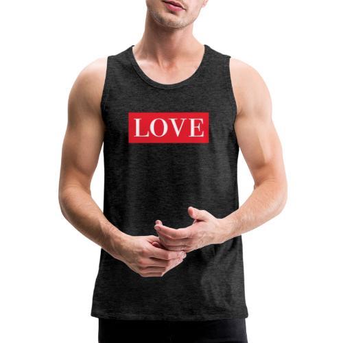 Red LOVE - Men's Premium Tank Top