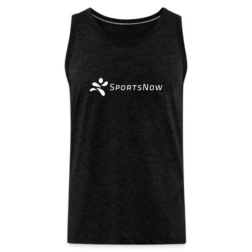 SportsNow-Logo Weiss - Männer Premium Tank Top