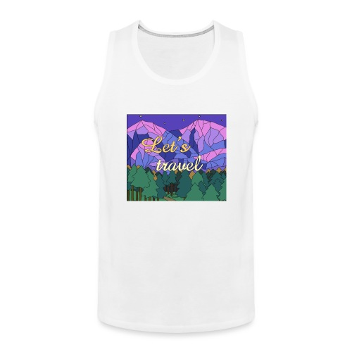 Lets Travel T-Shirt - Männer Premium Tank Top