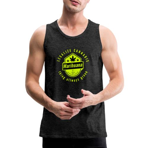 Legalize Cannabis Smoke Weed - Colors Changeable - Men's Premium Tank Top