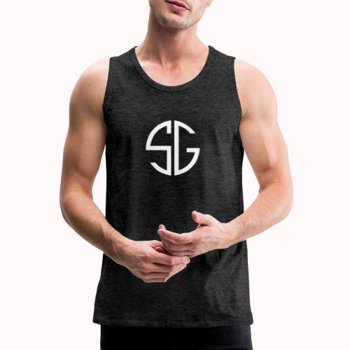 SemGamer log in wit - Mannen Premium tank top
