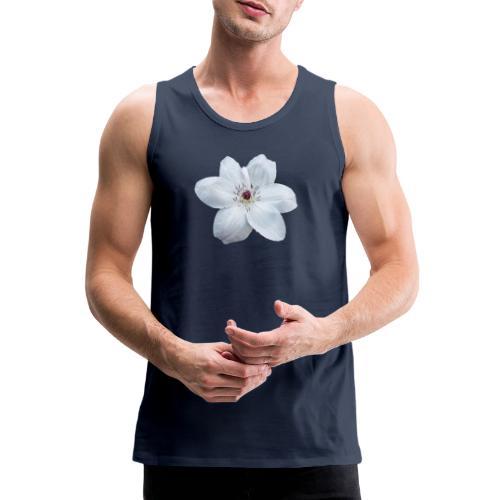 Jalokärhö, valkoinen - Miesten premium hihaton paita