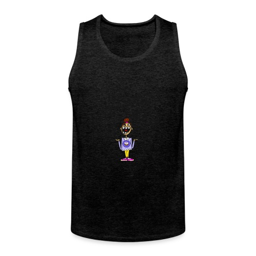 I like donuts and to go NUTS - Mannen Premium tank top