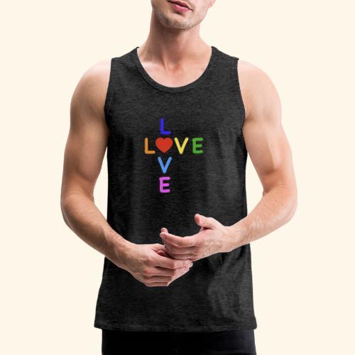 Rainbow Love. Regenbogen Liebe - Männer Premium Tank Top