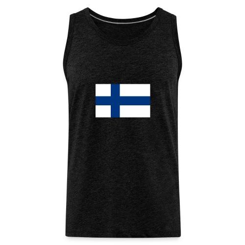 800pxflag of finlandsvg - Miesten premium hihaton paita