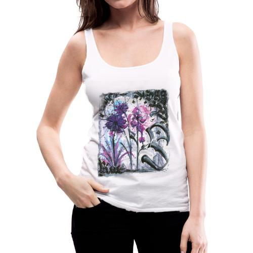 Crazy Flowers - Frauen Premium Tank Top