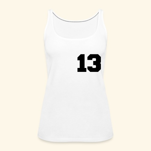 13 black - Frauen Premium Tank Top