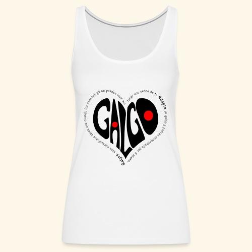 Corazon Galgo texto Negro - Camiseta de tirantes premium mujer