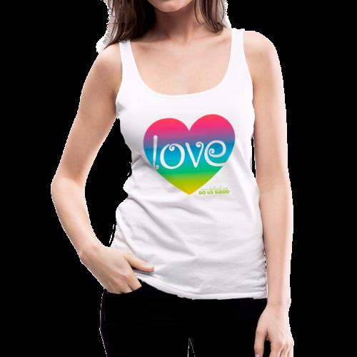 LOVE - Naisten premium hihaton toppi