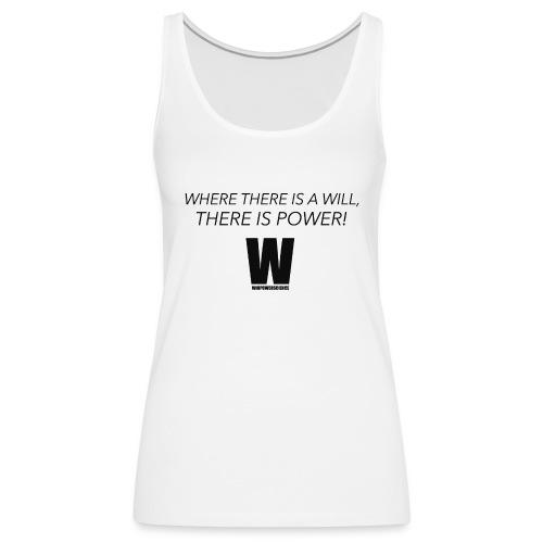 Willpower Science - Women's Premium Tank Top