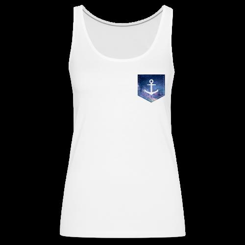 Brusttasche Galaxie Anker - Frauen Premium Tank Top