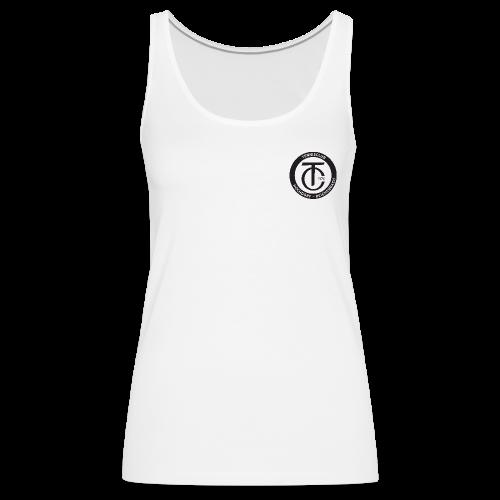 TCHR Logo Schwarz-Weiß - Frauen Premium Tank Top
