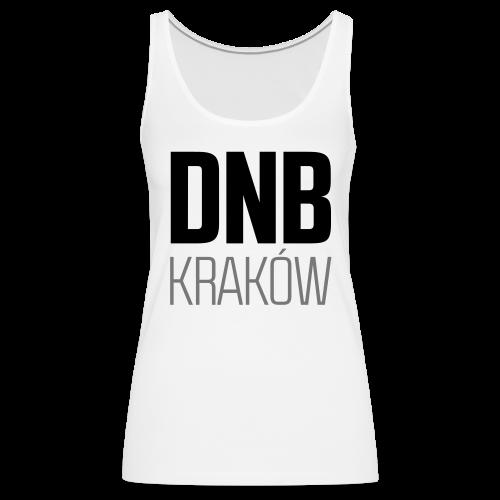 DNB KRAKÓW SQ WHITE - Tank top damski Premium