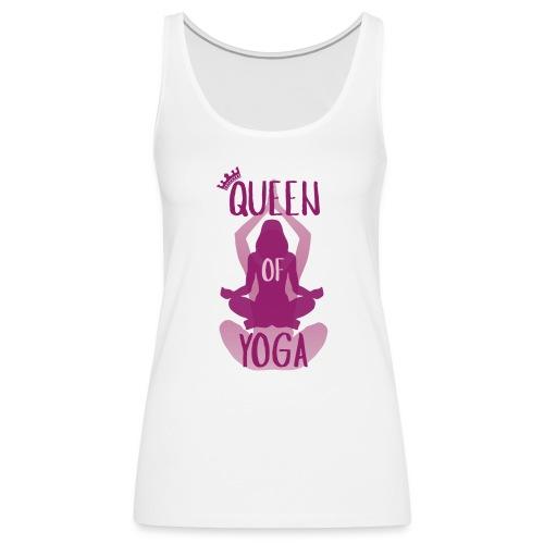 Queen of yoga - Frauen Premium Tank Top
