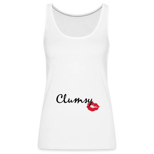 clumsy black - Frauen Premium Tank Top
