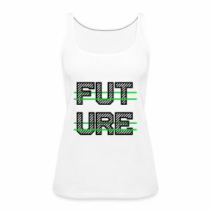 Future Clothing - Green Strips (Black Text) - Women's Premium Tank Top
