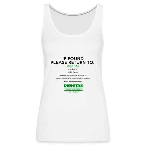 dignitas - If found please return - Women's Premium Tank Top