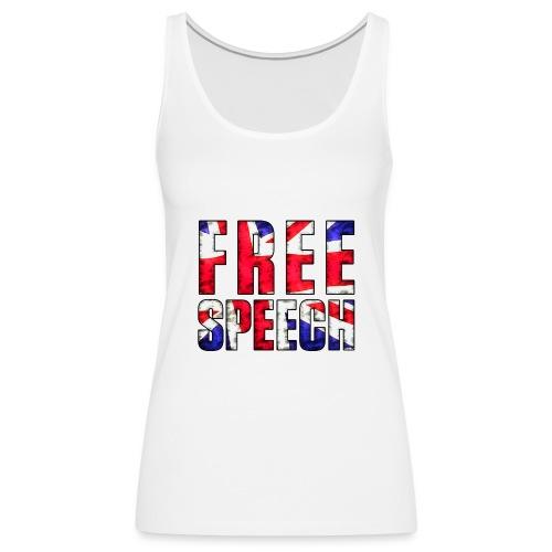 Free Speech UK - Women's Premium Tank Top