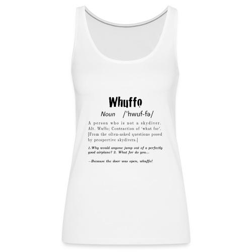 Whuffo black - Naisten premium hihaton toppi
