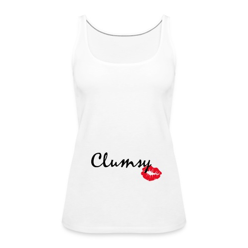 clumsy black - Frauen Premium Tank Top