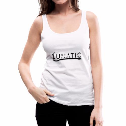 Lunatic Official logo White - Débardeur Premium Femme